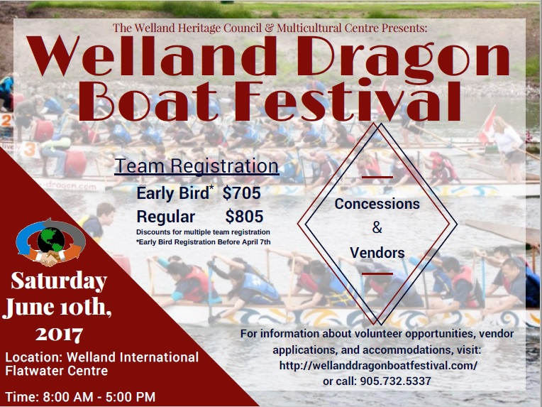 Welland Dragon Boat Flyer 2017